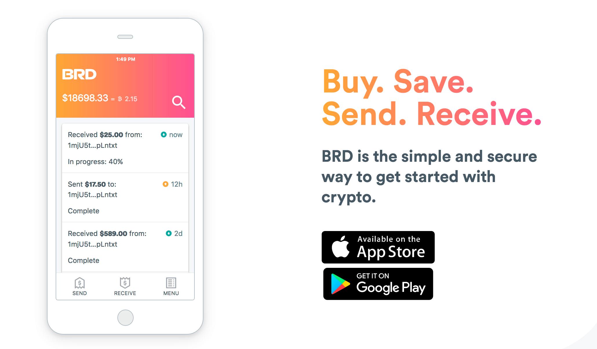 iPhoneアプリの仮想通貨ウォレット bread wallet(BRD)の使い方